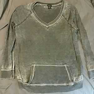 Torrid grey washed out sweater size 3